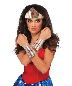 Wonder Woman Tiara & Cuffs Set   zulily
