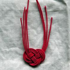 Mizuhiki knot in red ... looks like a heart ...