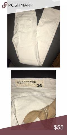 Rag and bone jeans Rag and bone jeans white no stains cigarette cut rag & bone Jeans