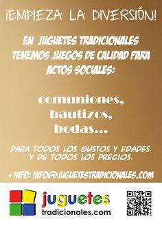 Tenemos los mejores regalos para comuniones, bautizos, bodas... www.juguetestradicionales.com