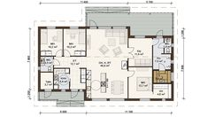 One Storey House, Bungalow, House Plans, Floor Plans, Layout, House Design, Cabin, Flooring, How To Plan
