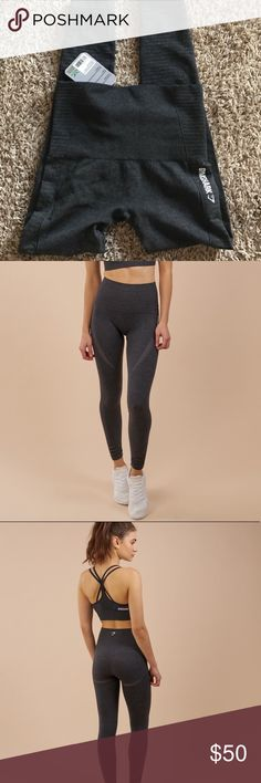 Gymshark seamless leggings XS dark grey seamless leggings, still new(: gymshark Pants Leggings