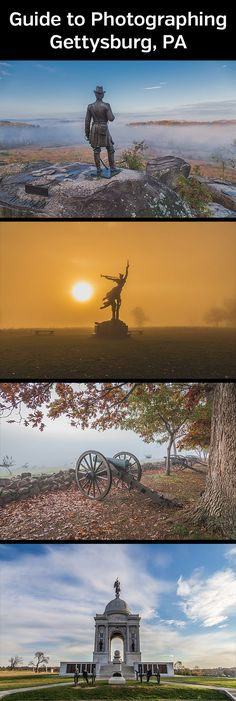 Discover the best photo opportunities at the Civil War battlefield in Gettysburg, Pennsylvania