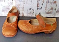 2e1e7851467a El Naturalista Yggdrasil Mary Jane Shoes Womens US 8.5 Brown Leather EU 39   ElNaturalista