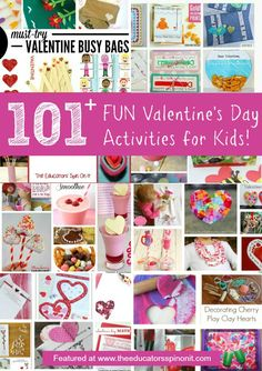 101 Valentine's Day Activities (from The Educators' Spin On It)