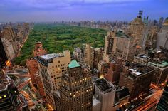 A view of Central Park: http://all-that-is-interesting.com/post/6209681851/central-park-at-dusk