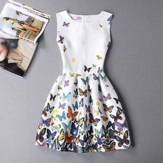 Plus Size Print Floral Vest Dress Sleeveless A Line Party Dresses Vestido Hot