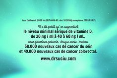 Photo vitamine D - vitamine anti-cancer - drsuciu