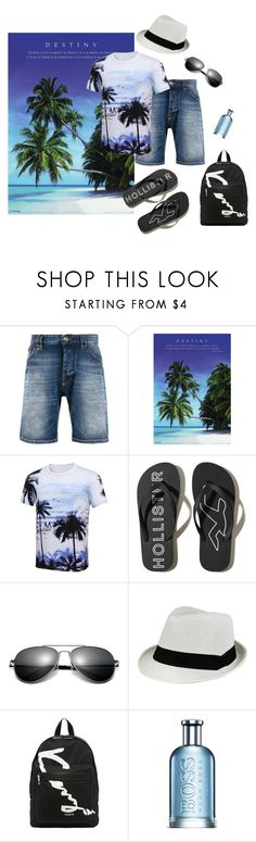 """Tropical Vacation"" by lifestylestories ❤ liked on Polyvore featuring Philipp Plein, Hollister Co., Kenzo, HUGO, men's fashion and menswear"