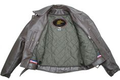 Men's D Pocket Horsehide Motorcycle Jacket. American made with old fashioned craftsmanship that is built to last a lifetime. Lifetime Guarantee.