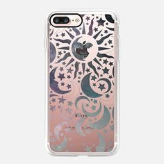 Casetify iPhone 7 Plus Case and other Moon iPhone Covers - Galaxy Stars Sun Moon Black Pattern Boho Bohemian Hippy New Age by Coral Antler Creative  | Casetify