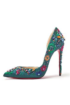 Christian Louboutin embellished D'orsay