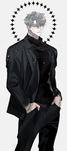 Anime Sexy, Dark Anime Guys, Cool Anime Guys, Handsome Anime Guys, Hot Anime Boy, Anime Boys, Anime Male, Anime Boyfriend, Anime People