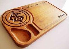 Tábua de carne em madeira para churrasco personalizada time Internacional - Adrishop - Sua Loja de Variedades