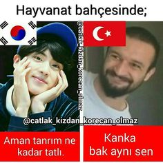 Herşey farklı Meaningful Sentences, Ridiculous Pictures, Best Caps, Best Memes Ever, Bts Funny Videos, Funny Times, Daddy, Bts Quotes, Funny Happy