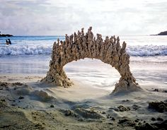 "These whimsical sand castles are the painstaking creations of one Boston-area student and artist who is known to the Internet as simply ""Sandcastlematt.""  SandcastleMatt While these sand castles may look like they're defying gravity, the truth is that underneath all the sand droplets is usually a piece of driftwood or other discarded junk."