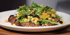 Flank Steak With Chickpea Arugula Salad at This Mama Cooks! On a Diet - thismamacooks.com