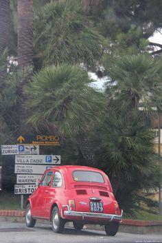 Italian signs and cars...how perfect!! near Ventimilgia Italian Riveria © jadoretotravel