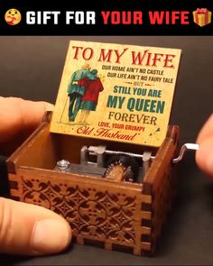 Soulmate Love Quotes, Wife Quotes, Quotes Quotes, I Love My Wife, Husband Love, To My Wife, You Are My Queen, Wooden Music Box, Graduation Pictures