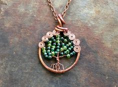 Tree of Life Jewelry Pendant Norse Yggdrasil Copper by Copperhead, $32.00