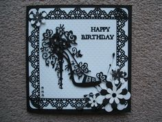 Made by Heather Winslade Birthday Cards For Women, Handmade Birthday Cards, Greeting Cards Handmade, Tattered Lace Cards, Dress Card, Spellbinders Cards, Anna Griffin Cards, Beautiful Handmade Cards, Scrapbook Cards