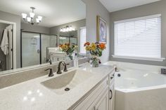 Are you looking for Bathroom Renovation Contractors in Staten Island? Contact with D'Angelo Build. We offer Bathroom Renovation Contractors at cheap rates. Share your Bathroom Renovation idea with us and we will complete it according to your expectations. Timeless Bathroom, Classic Bathroom, Bathroom Faucets, Master Bathroom, Master Tub, Relaxing Bathroom, Bathroom Countertops, Bathroom Remodel Pictures, Remodel Bathroom