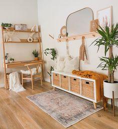 Oak Desk, Idee Diy, Aesthetic Room Decor, Scandinavian Home, Scandinavian Furniture, My New Room, Home Living Room, Home Decor Inspiration, Modern Desk