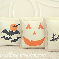 DIY Halloween Pillow Covers  http://www.tipjunkie.com/homemade-gifts/diy-halloween-pillow-covers/