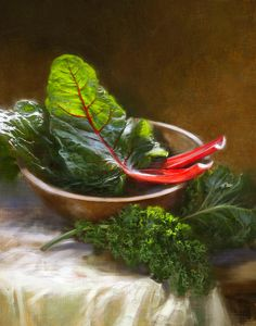 Hearty Greens Painting  - by Robert Papp