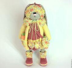 Купить Тая - aoi kotori, игрушка ручной работы, игрушка вязаная, заяц, заяц тильда