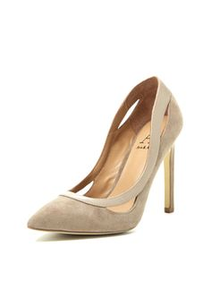 Lizzy Cut Out Collar Pump from Ava & Aiden Shoes on Gilt