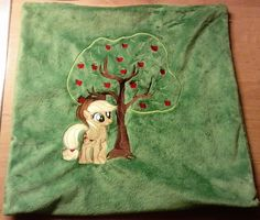 Minky Pillow with AJ and Bloomberg Embroidering by GrayTheZebra.deviantart.com on @DeviantArt