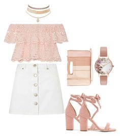 """""""Pink and Pretty"""" by kaystylesit on Polyvore featuring Miguelina, Miss Selfridge, LC Lauren Conrad, Raye, Olivia Burton and Charlotte Russe"""