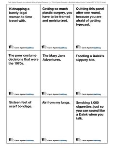 Doctor Who/ Cards Against Humanity