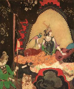 Layla - from Edmund Dulac's Picture Book for the Red Cross