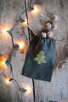 SALE 20% OFF / Linen Bag /  Linen Christmas Bag / Gift от LINOHAZE