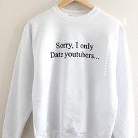 Only Date YouTubers Graphic Crewneck Sweatshirt