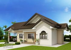 This three bedroom colonial house with 2 bathrooms has a total floor area of 134 sq. if it is to be constructed as single detached house. Modern Bungalow House, Bungalow House Plans, Small House Design, Modern House Design, Three Bedroom House Plan, Small House Floor Plans, Beautiful House Plans, Build Your House, Contemporary House Plans