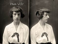 Femme fatale: Dorothy Mort, 32, shot her young lover, Dr Claude Tozer, dead on December 21, 1921, after he tried to end their romance. She was arrested after a failed suicide bid.