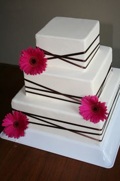 gerbera daisy wedding cake - Google Search