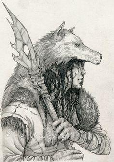 Commission: The Druid by *NadezhdaVasile on deviantART