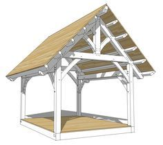12×16 King Post Timber Frame Plan - Timber Frame HQ - http://timberframehq.com/12x16-king-post-timber-frame-plan/?utm_content=bufferd1019&utm_medium=social&utm_source=pinterest.com&utm_campaign=buffer