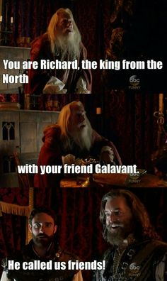 """""""He called us friends!"""" - Richard, Edwin The Magnificent and #Galavant"""