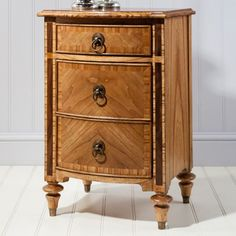 Beautifully carved spindle legs and features three handy drawers for convenient storage. The Spire 3 drawer Bedside Cabinet obtainable at Style Our Home. French Bedside Tables, 3 Drawer Bedside Table, Bedside Cabinet, Dresser As Nightstand, Sleigh Beds, Home Living, Walnut Wood, Decoration, Bedroom Furniture