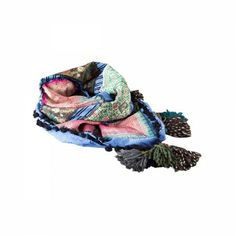 Lacrom Store || Ghingi Mingi Goi, Accessories, scarf  Striking multi-colored cotton Kefia with old Indian embroideries.