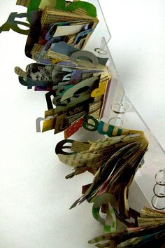 altered book project | artist allison wilton, via behance Interesting site and book construction