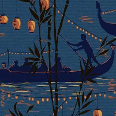 Cole & Son GONDOLA BLUE Wallpaper