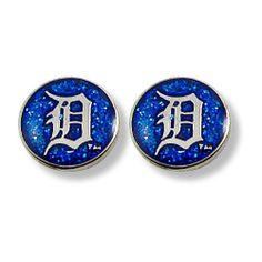 8cf7d70e61426b MLB Detroit Tigers Glitter Post Earrings