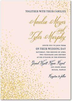 Effervescent Sparkle Wedding Invitations   via Wedding Paper Divas