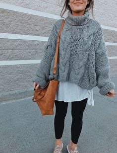 oversized gray sweater – 2019 - Sweaters ideas - oversized gray sweater – 2019 – Sweaters ideas oversized gray sweater 2019 oversized gray sweater The post oversized gray sweater 2019 appeared first on Sweaters ideas. Oversized Sweater Outfit, Sweater Outfits, Gray Sweater, Legging Outfits, Sweater Over Dress, Cute Oversized Sweaters, Oversized Tee, Sweater Fashion, Mode Outfits